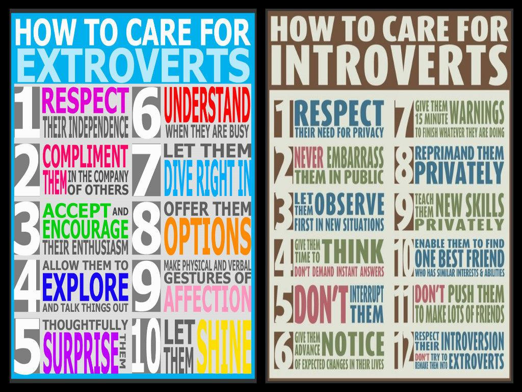 Caring for Extroverts and Introverts